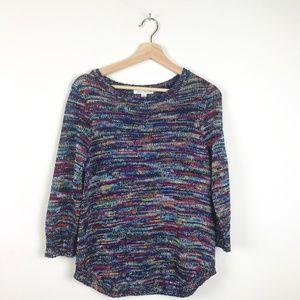 Studio Works | Multicolor Knit Sweater 3/4 Sleeve